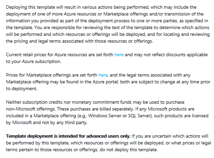 Azure container service agreement