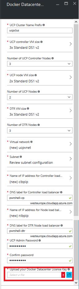 configure docker datacenter azure