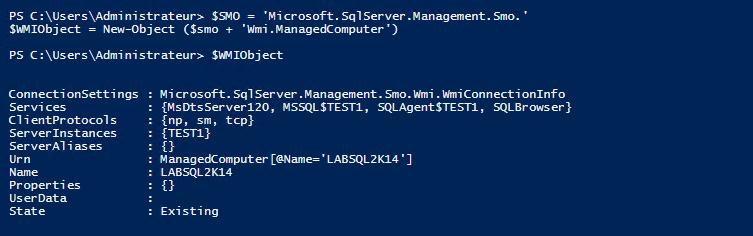 SQL Server WMI object